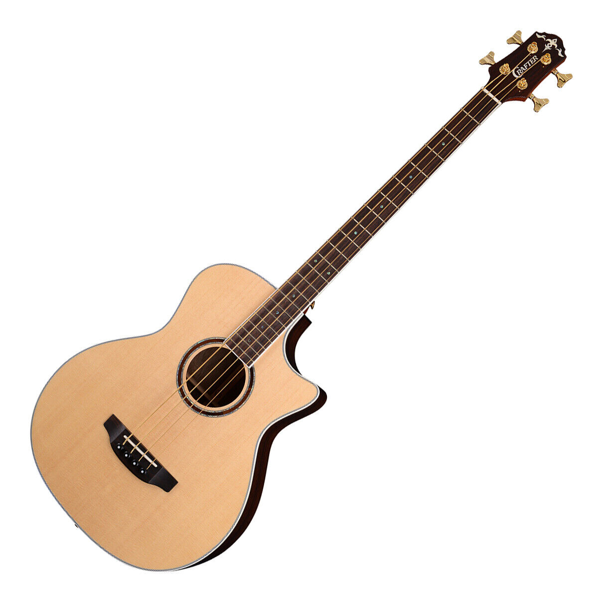 Crafter KGAB-24 SP Plus Grand Auditorium Sitka Spruce Top Natural Acoustic Bass