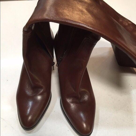 400 NIB Sesto Meucci fine italian leather boots, brown size 8.5