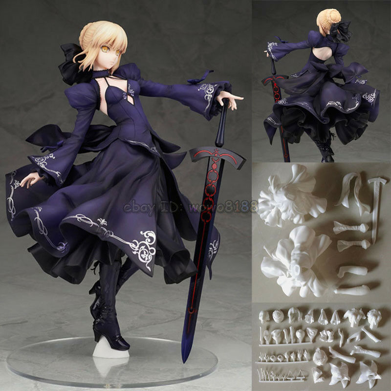 Unpainted 1 7 Resin Anime Figure Model Fate Zero Saber Garage Kit Statue High-Q