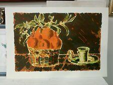 BONFANTE EGIDIO litografia + cornice Natura morta frutta 48x70 quadro grecoarte