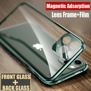 360-Magnetic-Glass-Case-for-iPhone-11-Pro-XS-Max-XR-X-8-7-Full-Cover-Lens-Film