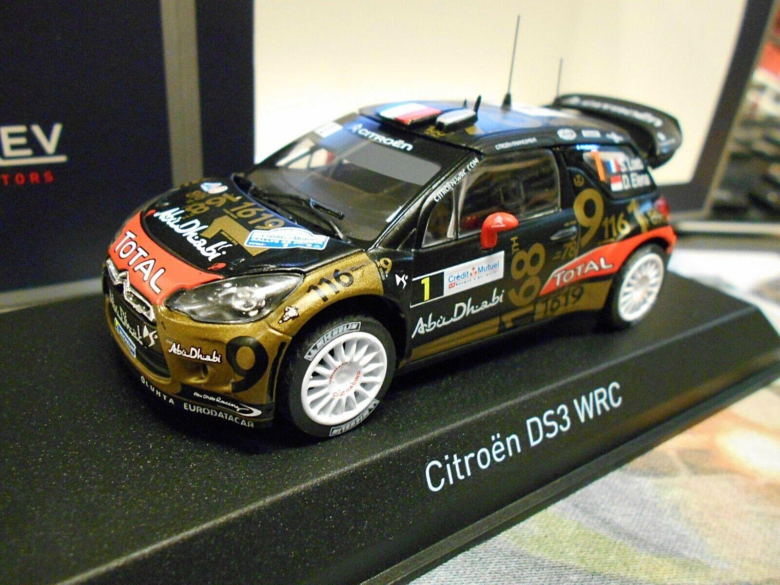 Citroen ds3 WRC Rallye 2013 Coupe du Monde France  1 Loeb Total Abu Dhabi NOREV 1 43