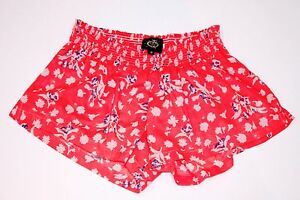 Elastic Rayon Lounge Coral Floral Label Booty Sleepwear Waistband Black 2 Short wqSp6pWX