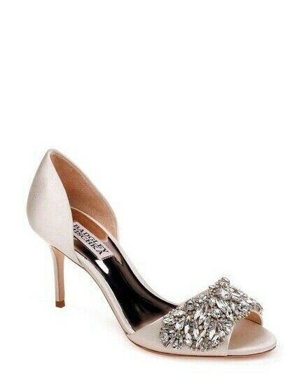Badgley Mischka  IVORY Hansen Evening Wedding Pump Heels  250 - Dimensione 7.5 NIB  tutti i beni sono speciali