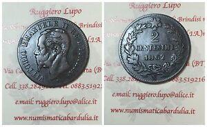 Vittorio-Emanuele-II-2-Cents-1862-Naples-Grand-N-R5-Evalue-Umrust-256b
