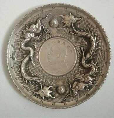 Old China tibet Silver Bracelet Collection Amulet Frog statue Fengshui
