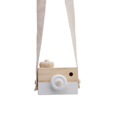 Kids Cute Wood Camera Toy Xmas Children Room Decor Natural Safe Wooden Camera PF