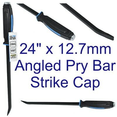 Angled Pry Wrecking Crow Bar Heavy Duty Strike Cap US PRO 24 Inch 12.7mm 6852