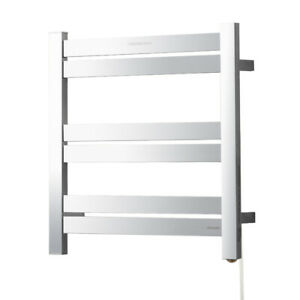 Details About Hardwired Towel Warmer For Bathroom Wall Mounting Heated Drying Rack Plug