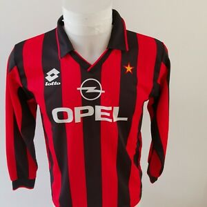 maillot-de-football-MILAN-ac-italie-vintage-lotto-foot-retro