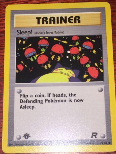 79//82 Pokemon Card Team Rocket 1st Edition Sleep FREE SHIPPING!