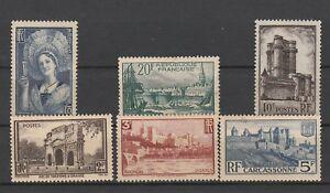 FRANCOBOLLI-1938-FRANCIA-VEDUTE-E-SOGGETTI-VARI-MNH-MLH-Z-9756