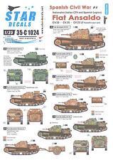 Star Decals 1/35 FIAT ANSALDO CV.33 & CV.35 TANKETTES Spanish Civil War