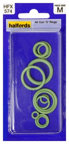 Halfords HFX574 Assorted Air Con O Rings Pack 11 Pieces 5mm-22mm x 8mm-27mm