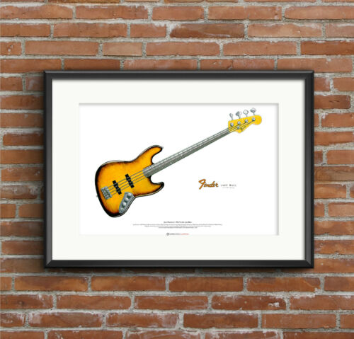 Jaco Pastorius/' 1962 Fender Jazz /'Bass of Doom/' ART POSTER A2 size