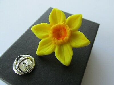 Spring Florist Flower Daffodils Gold-tone Cufflinks Crystal Tie Clip Gift Set