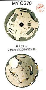 New Miyota MY0S70 MY0S80 MY0S90 watch quartz battery movement complete works