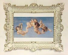 Bild mit Rahmen Barock Engelsbild 56x46 Antik Wandbild Schutzengel Gemälde E4