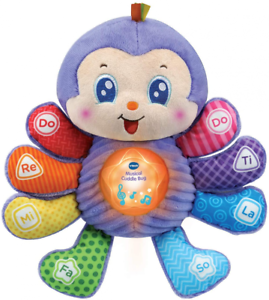 VTech Baby Musical Toy Cuddle Bug, Educational with Sounds and Purple
