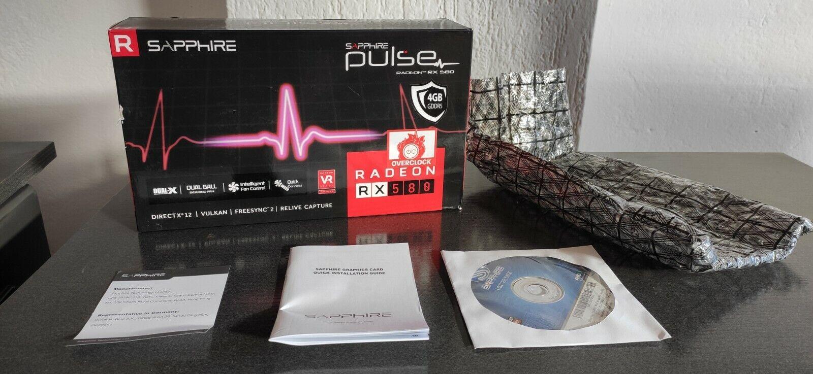 * Box Only * AMD Sapphire Pulse Radeon rx580 OC 4gb Graphics Card Box/NO GPU