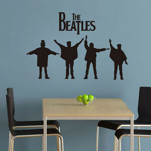 diy gift THE BEATLES Band Music Wall Sticker Sitting Living Bed Room ... 12a425be9b58