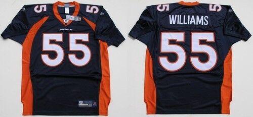 NFL Authentic ONFIELD Jersey Trikot DENVER BRONCOS DJ Williams 55 navy Football