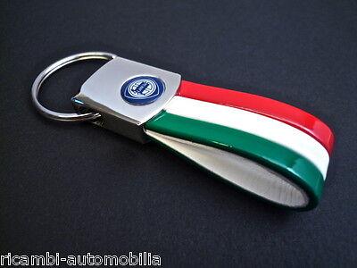 Lancia Beta Delta Fulvia SEMI-LEATHER TRICOLORE ITALIA KEY HOLDER