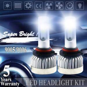 Details about COB 9005 9006 LED headlight bulbs conversion kit hi-lo beam  lamp light HID 6000k