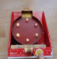 Kirklands Lit Christmas Bulb Stocking Holder In Box