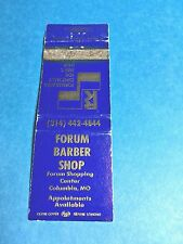 """""""Forum"""" Barber Shop Matchbook Cover Only #2 Columbia, MO"""