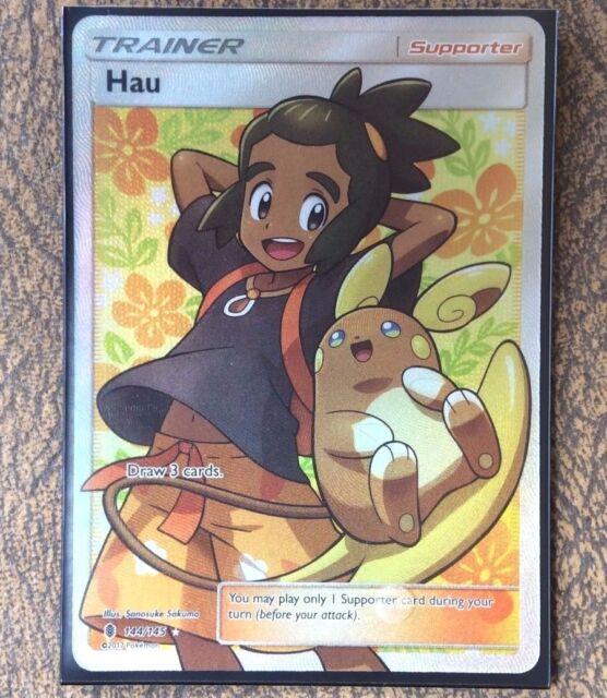 Pokemon Card Trainer   HAU   Ultra Rare 144/145   GUARDIANS RISING   ***MINT***