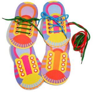 1 X Apprendre à Dentelle Cravate Chaussures Pratique Laçage Learning Chaussure Enfant Shoelace