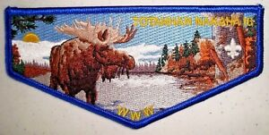 NEW-OA-TOTANHAN-NAKAHA-LODGE-16-NORTHERN-COUNCIL-SCOUT-PATCH-MOOSE-FLAP-PRETTY