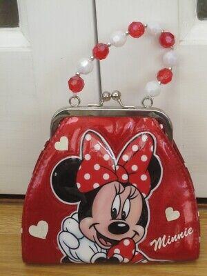 Fedele Minnie Mouse Child's Girl's Rosso A Pois Borsa Borsetta Disney-mostra Il Titolo Originale