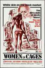 WOMEN IN CAGES one sheet movie poster 27x41 1971 SEXPLOITATION PAM GRIER