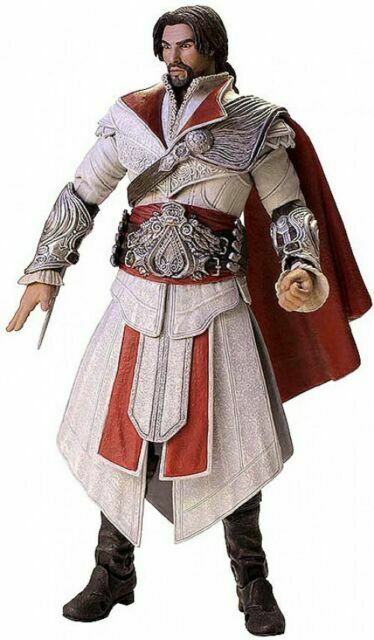 Assassin S Creed Brotherhood Ivory Unhooded Ezio 7 Action Figure
