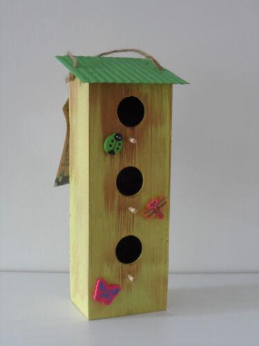 NOVITA /'da appendere shabby chic verde bianco blu in legno//metallo Bird Scatola Regalo