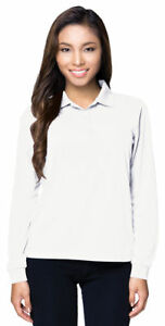Tri-Mountain-Women-039-s-New-Moisture-Wick-Long-Sleeve-Polyester-Polo-Shirt-KL020LS