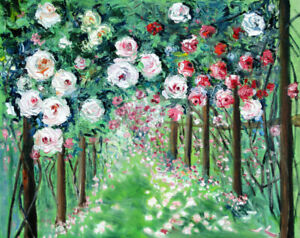Original-Oil-Painting-Rose-Garden-16x20-034-Julia-Lu