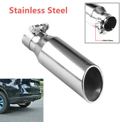 "63mm//2.5/"" Inlet 3 /""Outlet Car Stainless Steel Tail Throat Pipe Exhaust Muffler"