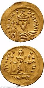 582-602 Ad Maurice Tiberius Gold Solidus Coin Byzantine Constantinople Xf Coins & Paper Money