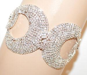 BRACCIALE-ARGENTO-strass-donna-cristalli-cerchi-avambraccio-sposa-cerimonia-G66