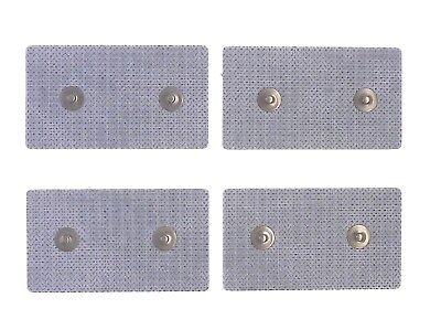 ^et 4 Elettrodi adesivi cerotti rettangolari 4,5x8cm monopolari doppio spinotto