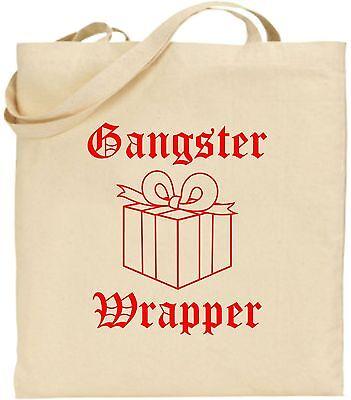 Gangster Verpackung Groß Baumwolle Einkaufstasche Weihnachten Bag Geheim Santa