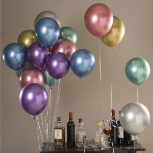 10-034-12-034-Helium-Ballons-Latex-Metallique-Chrome-Ballon-Fete-De-Mariage-10-20-50pcs