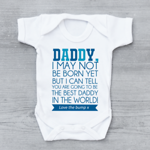 e23e0c1c1614 Love From The Bump Father s Day New Arrival Poem Boys Baby Grow ...