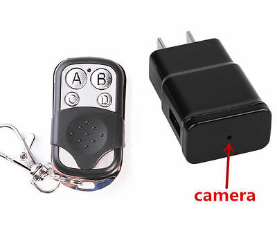 Mini 1080P HD DVR SPY Hidden Camera Plug Charger Cam DV Video Motion detection