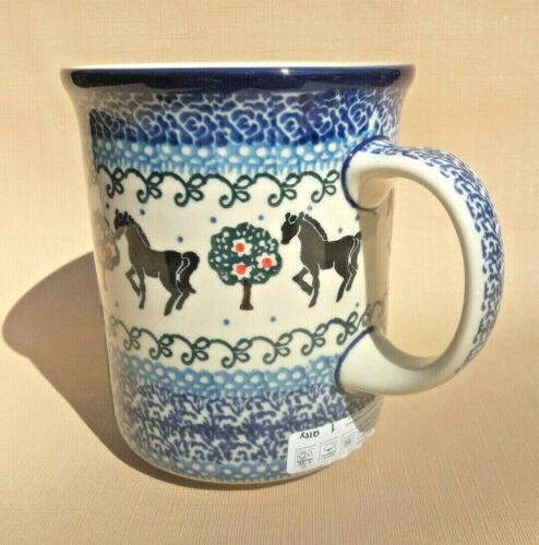 PFERDE Jumbobecher Becher Tasse Kaffeebecher Bunzlauer Keramik