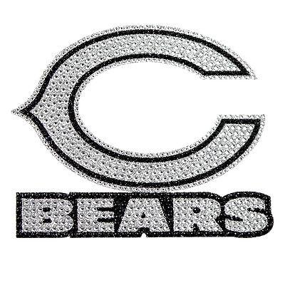 Chicago Bears Bling Auto Emblem [NEW] NFL Car Decal Glitter Sticker CDG