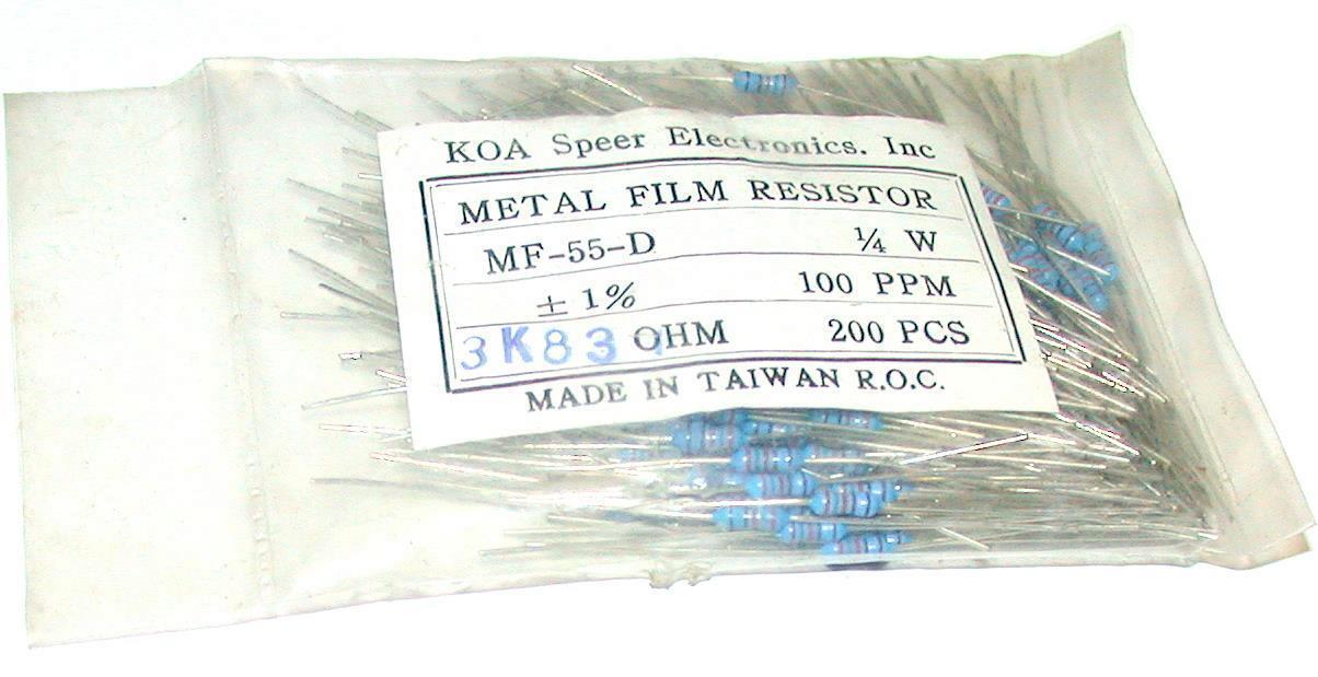 MF55D 50pcs 54.9k Ohm 1//4W 1/% AXIAL METAL FILM RESISTORS KOA New